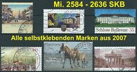 LOT No.1 - BRD Mi. 2584 - 2636 SKB-Marken kpl. aus Jahrgang 2007 gestempelt