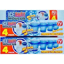 8 X Moldes tiro hielo Bandejas De Verano Barbacoa Fiesta Gafas vaso Juegos congelar