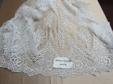 Magnificent French design bridal wedding  fabric mesh lace white. Sold  by yard.