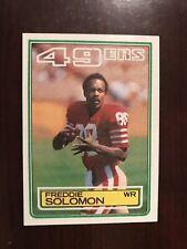 1983 Topps #172 - Freddie Solomon - San Francisco 49ers