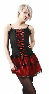 Dead Threads - Red and Black Mesh Corset Dress