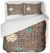 Mid Century Duvet Cover Set - Retro Geometric Pattern ( King Size) BRAND NEW