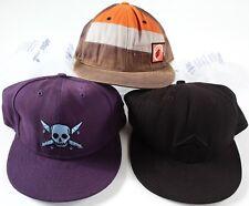 Vintage SKATE hat LOT- size 7 1/2- Emerica Fourstar & Volcom fitted baseball cap
