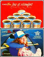 2x TIM HORTON COFFEE CHILDREN FOUNDATION BUY 10 GET 1 FREE COLLECTIBLE GIFT CARD