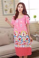 Cartoon Doraem Women Girl Sleepwear Pajama Nightwear Nightdress Sleepdress L-2XL