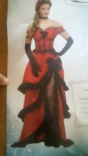Saloon Girl Costume Adult Wild West Can Can Dancer Halloween West World Saloon!!