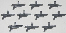 LEGO LOT OF 10 NEW DARK BLUISH GREY WEAPONS BLASTERS WITH SCOPES PIECES