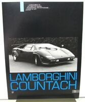 1980's Lamborghini Countach S Sales Data Sheet Specifications Original