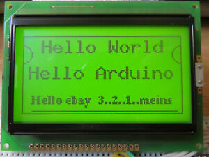 LCD Grafik Display 128x64 Powertip PG12864A  12864 Arduino