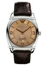 Emporio Armani AR0343 Womens Stainless Steel Brown Leather Watch Grade A
