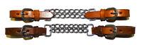Kinnkette doppelt / Westernreiten / Leder