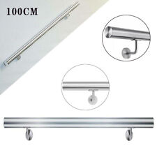 Stainless Steel Stair Handrail Flat End Caps 1M 304 Grade Wall Rail Brackets