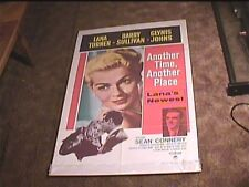 ANOTHER TIME ANOTHER PLACE 1958 ORIG MOVIE POSTER SEAN CONNERY LANA TURNER