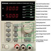 KORAD KA3005D Precision Variable Adjustable 30V, 5A DC Programmable Power Supply