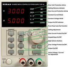 KORAD KA3005D Precision Variable Adjustable 30V, 5A DC Programmable Power Supply