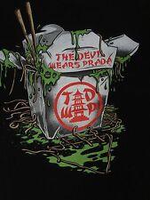 DEVIL WEARS PRADA SLIMY CHINESE TAKEOUT - XL BLACK T-SHIRT E2607