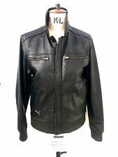 Puma Men's Leather Jacket Black Size Small