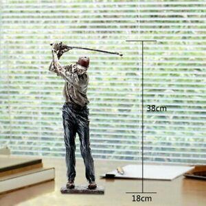 Sports Golfer Statue Resin Sculpture Figurine Tabletop Home Office Decor Craft S