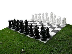 SchachQueen - XXL Outdoorschach Gartenschach Schachfiguren, Königshöhe 31 - 63cm