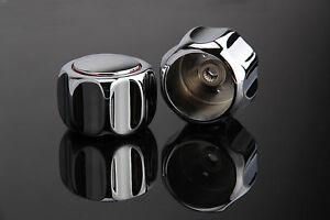 Heavy Round Metal Handle Tap Top/Head Chrome Plated  (HOT & COLD) Pair