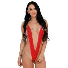 Women's Micro Thongs G-String Mini Bikini Slingshot One-Piece Monokini Swimwear