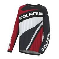 NEW OEM Polaris Off-Road Riding Jersey - Unisex design - Red/Black - 2860650