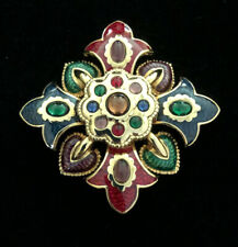 Joan Rivers Jeweltone Enamel Maltese Pin