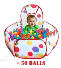 Large Foldable BASKETBALL BALL PIT Indoor Outdoor Pool Tent Nursery Playhouse