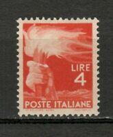s33633 ITALIA  MNH** 1945 L. 4,00 Democratica 1v