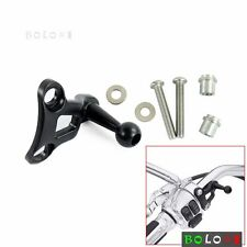 Black Handlebar Cell Phone Carrier Mount GPS MP3 Bracket For Harley Touring XL