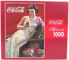 "NEW VINTAGE 1000 PIECE MASTERWORKS COKE COCA-COLA PINUP PUZZLE ""COLA IN STYLE"""