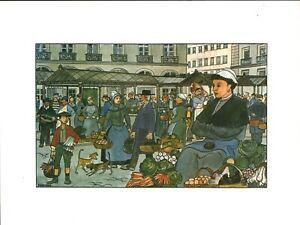 Fac-similé d'aquarelle de J. Bruneau Nantes du bon vieux temps planche no 21
