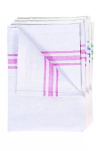 Tea Towel Towels White Cotton Pack of 10 Kitchen Restaurant Bar Glass Cloths