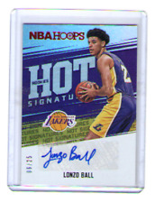 LONZO BALL 2017-18 Panini NBA Hoops ROOKIES HOT SIGNATURES AUTO RC #/25 LAKERS