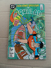 Teen Titans Spotlight 10 .  Aqualad . DC 1987. FN / VF