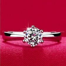 Moissanite Solitaire Engagement Ring 14K White Gold 1.50 Ct Excellent Round Cut