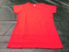 Size LARGE Gildan GD72 RED Cotton Short Sleeve Ladies Womens Tee T Shirt New