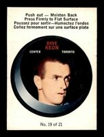 1968-69 O-Pee-Chee Puck Sticker #19 Dave Keon EXMT X1032676