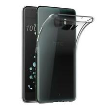 Clear Slim GEL Case and Glass Screen Protector for HTC U Ultra