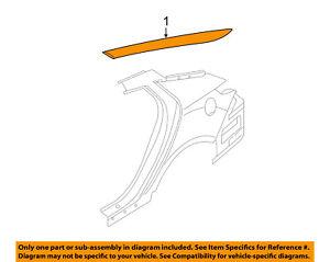 KIA OEM 11-16 Optima Exterior-Molding Trim Left 878502T000