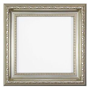 Ornate Shabby Chic Picture / photo frame poster frame Instagram Square - Silver