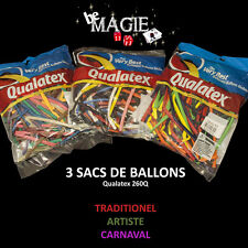 Lot de 3 sacs de 100 ballons QUALATEX variés - Sculpture sur ballons - magie