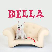 CUSTOM DOG NAME VINYL WALL DECAL STICKER ART-REMOVABLE WORDS HOME DECOR-MURAL