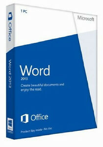 Microsoft Office Word 2013 32/64 Bit Download 1 PC Commercial Licence