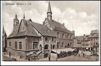 Göttingen Niedersachsen Postkarte ~1910/20 Partie am Rathaus Personen Brunnen