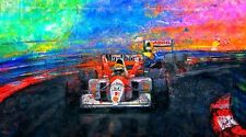 Auto Racing Art AYRTON SENNA Monaco 1992 MP4 McLaren F1 limited CANVAS prints