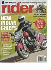 RIDER,  NOVEMBER, 2013 (MOTORCYCLEING AT ITS BEST ) 8 NEW HARLEYS * NEW INDIAN