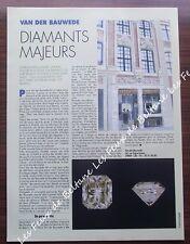 Article publicité Van Der Bauwede, diamants, joaillier ,  1992