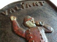Cast Iron Fireman Plaque Valiant Hose No2 - Rustic Patina