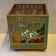 Teelichthalter Baum des Lebens -  Vintage Lampe Laterne Teelichter altrosa gold